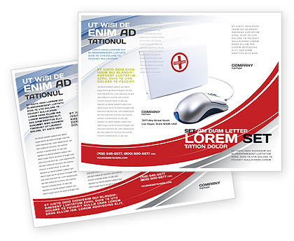 Computer Diagnostics Brochure Template, 05964, Medical — PoweredTemplate.com