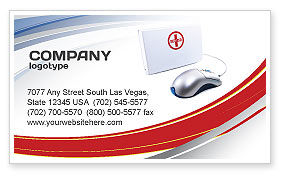Computer Diagnostics Business Card Template, 05964, Medical — PoweredTemplate.com