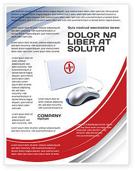 Computer Diagnostics Flyer Template, 05964, Medical — PoweredTemplate.com