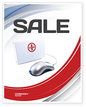 Medical: Computer Diagnostics Sale Poster Template #05964