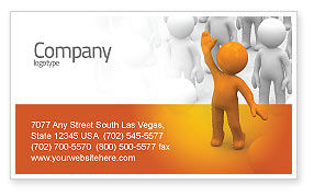 Victor Business Card Template, 05968, Education & Training — PoweredTemplate.com