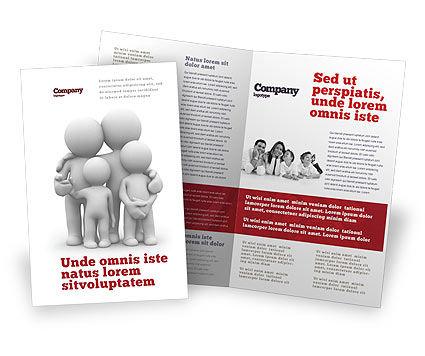 3D Family Brochure Template, 05970, Religious/Spiritual U2014  PoweredTemplate.com