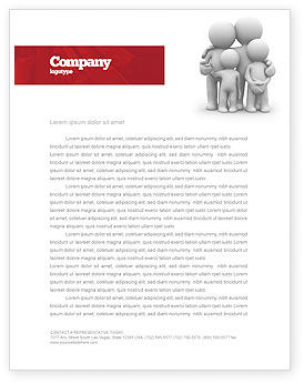 3D Family Letterhead Template, 05970, Religious/Spiritual — PoweredTemplate.com
