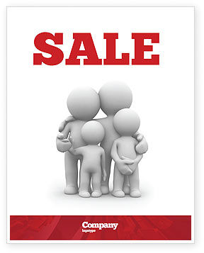 Religious/Spiritual: 3D Family Sale Poster Template #05970