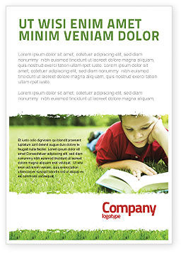 Reading On Summer Vacations Ad Template, 05977, Education & Training — PoweredTemplate.com