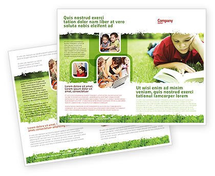 Reading On Summer Vacations Brochure Template Design And Layout