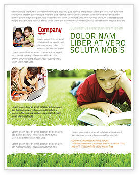 Reading On Summer Vacations Flyer Template, 05977, Education & Training — PoweredTemplate.com