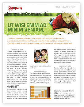 Education & Training: Reading On Summer Vacations Newsletter Template #05977