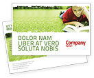 Education & Training: Plantilla de la postal - lectura en vacaciones de verano #05977