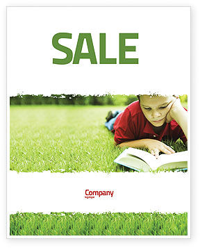 Reading On Summer Vacations Sale Poster Template, 05977, Education & Training — PoweredTemplate.com