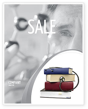 Medical Textbooks Sale Poster Template, 05985, Medical — PoweredTemplate.com
