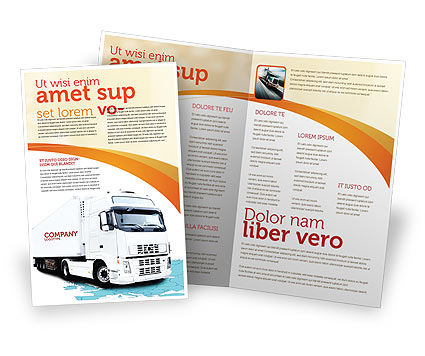 Truck Tractor Brochure Template, 05987, Cars/Transportation — PoweredTemplate.com