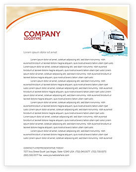 Truck Tractor Letterhead Template 05987 Cars Transportation PoweredTemplate