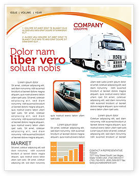 Cars/Transportation: Truck Tractor Newsletter Template #05987