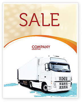 Cars/Transportation: Truck Tractor Sale Poster Template #05987