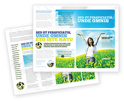 People: Sunshine Girl Brochure Template #05989