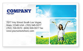 Sunshine Girl Business Card Template, 05989, Abstract/Textures — PoweredTemplate.com