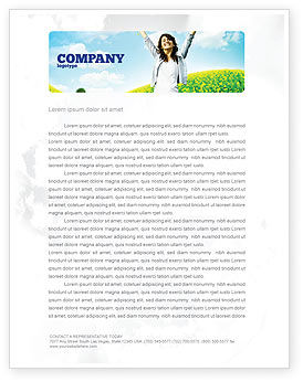 Abstract/Textures: Sunshine Girl Letterhead Template #05989