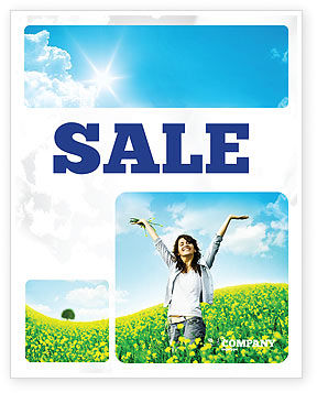 Sunshine Girl Sale Poster Template, 05989, Abstract/Textures — PoweredTemplate.com