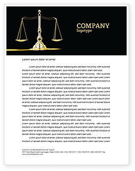 Justice Symbol Letterhead Template, 05997, Legal — PoweredTemplate.com