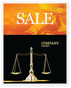 Legal: Justice Symbol Sale Poster Template #05997