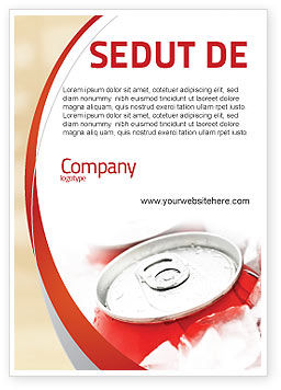 Food & Beverage: Frisdrankblikjes Advertentie Template #06003