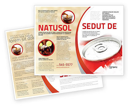Soda Cans Brochure Template, 06003, Food & Beverage — PoweredTemplate.com