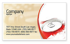 Soda Cans Business Card Template, 06003, Food & Beverage — PoweredTemplate.com