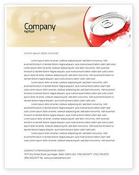 Food & Beverage: Soda Cans Letterhead Template #06003
