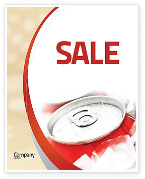Food & Beverage: Soda Cans Sale Poster Template #06003