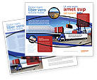 Cars/Transportation: Seaport Brochure Template #06007
