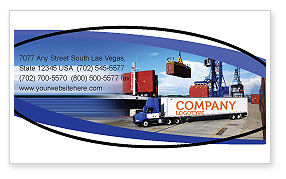 Seaport Business Card Template, 06007, Cars/Transportation — PoweredTemplate.com