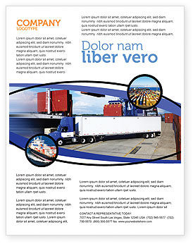 Seaport Flyer Template, 06007, Cars/Transportation — PoweredTemplate.com