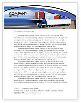 Seaport Letterhead Template, 06007, Cars/Transportation — PoweredTemplate.com
