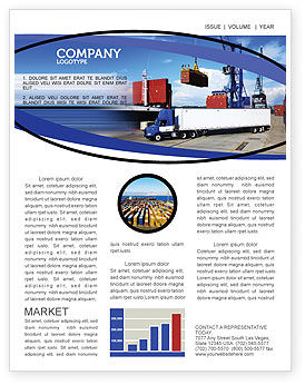 Seaport Newsletter Template, 06007, Cars/Transportation — PoweredTemplate.com