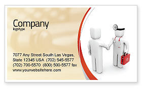 Patient and Doctor Business Card Template, 06021, Medical — PoweredTemplate.com