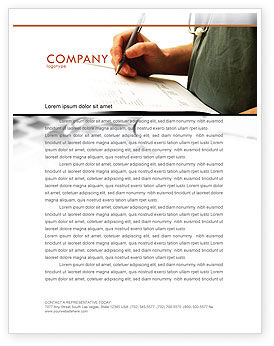 Medical: Manual Medical Record Letterhead Template #06023