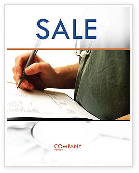 Manual Medical Record Sale Poster Template, 06023, Medical — PoweredTemplate.com
