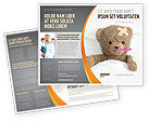 Medical: Wounded Teddy Bear Brochure Template #06030