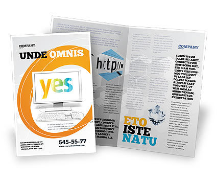 Yes Computer Brochure Template
