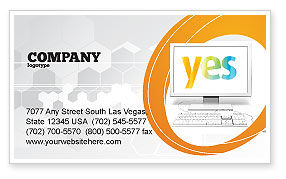 Yes Computer Business Card Template, 06031, Technology, Science & Computers — PoweredTemplate.com