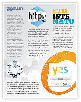 Yes Computer Flyer Template, 06031, Technology, Science & Computers — PoweredTemplate.com