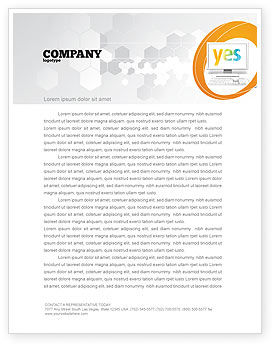 Technology, Science & Computers: Yes Computer Letterhead Template #06031