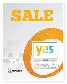 Yes Computer Sale Poster Template