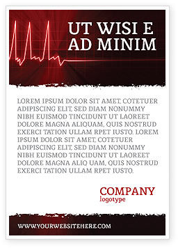 Medical: Heart Rhythm Ad Template #06036