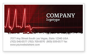 Medical: Heart Rhythm Business Card Template #06036