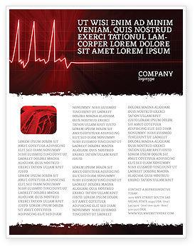Heart Rhythm Flyer Template, 06036, Medical — PoweredTemplate.com