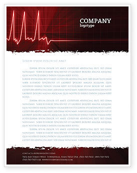 Medical: Heart Rhythm Letterhead Template #06036