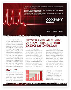 Heart Rhythm Newsletter Template, 06036, Medical — PoweredTemplate.com