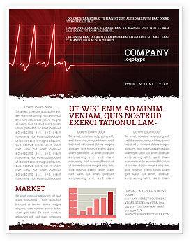 Medical: Heart Rhythm Newsletter Template #06036